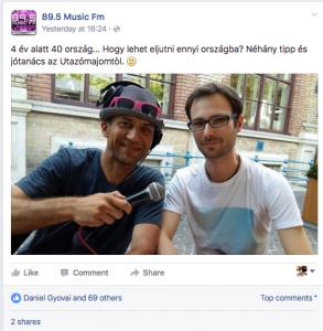 Music FM - Délutáni Roadshow (Élő adás)