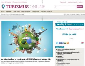 Turizmus online - címlap