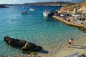 málta comino beach