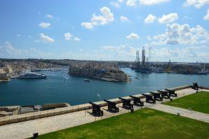 Málta Valetta Felső Barakka kert