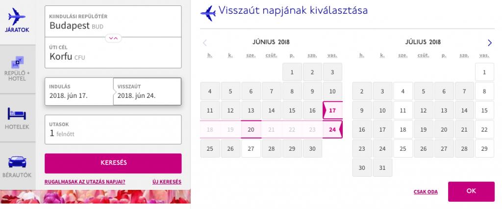 bbbf7d6e54e7 Wizz Air repülőjegy foglalás menete lépésről lépésre - Utazómajom