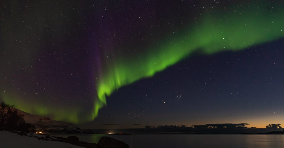 sarki fény norvégia