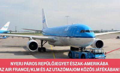 Az Air France-KLM és az utazómajom közös játéka: Nyerj páros jegyet Észak-Amerikába!