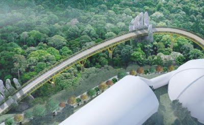 Hatalmas kezek tartják ezt a vietnami hidat