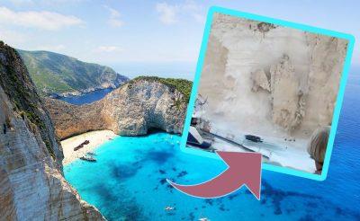 FRISS: Lezuhant egy szikladarab a legnépszerűbb zakinthoszi strandon! (videó)