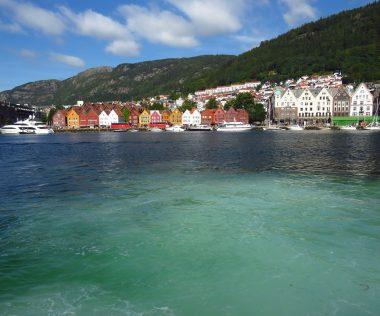 Városnézés Bergenben, hajóval a Sognefjord városai között