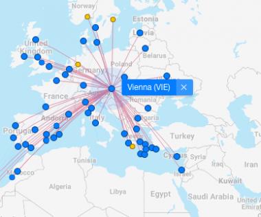 Az utóbbi idők legnagyobb bejelentése: 17 új útvonal Bécsből!