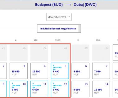 Budapest – Dubaj egyirányú repülőjegy 6.490 Ft!