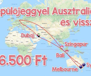 Dubaj, Szingapúr, Sydney, Melbourne, Bali körúthoz repjegyek 246.500 Ft-ért