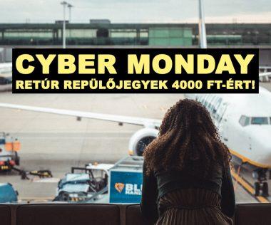 CYBER MONDAY: 10 retúr repülőjegy 4.000 Ft-os áron!