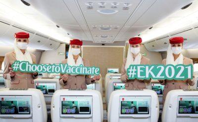 9 millió beadott vakcina: az oltási program sikerét ünnepelte az Emirates, és ízelítőt adott abból, milyen lesz a légiutazás a járvány után