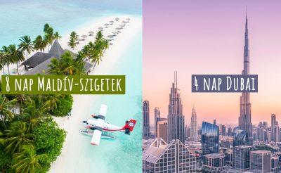 4 nap Dubai + 8 nap Maldív-szigetek Emirates légitársasággal, feladható poggyászokkal 213.000 Ft-ért!