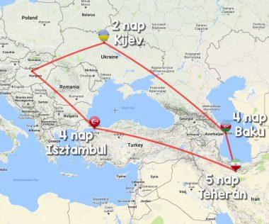 16 napos Kijev-Baku-Teherán-Isztambul túra repjeggyel, szállással